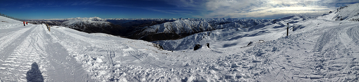 Backcountry as seen from the edge of Cardrona