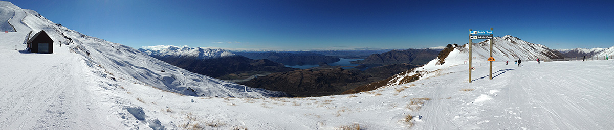 Lake Wanaka as seen from Treble Cone